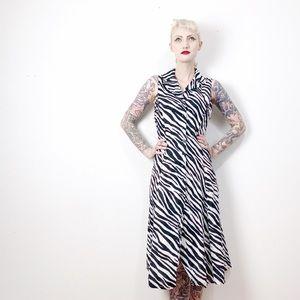 Jones New York Zebra Animal Print Dress 8